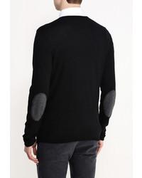 Мужской черный свитер с v-образным вырезом от Best Mountain