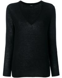 Женский черный свитер с v-образным вырезом от Joseph
