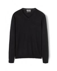 Мужской черный свитер с v-образным вырезом от Mango Man