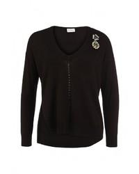 Женский черный свитер с v-образным вырезом от Pinko