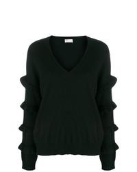 Женский черный свитер с v-образным вырезом от RED Valentino