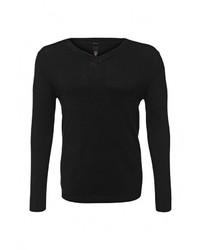 Мужской черный свитер с v-образным вырезом от Sweewe