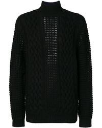 Мужской черный свитер от Balmain