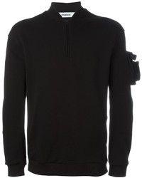 Мужской черный свитер от Chalayan