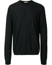 Мужской черный свитер от Versace