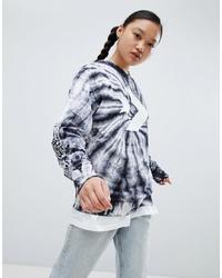Женский черный свитшот с принтом тай-дай от Converse