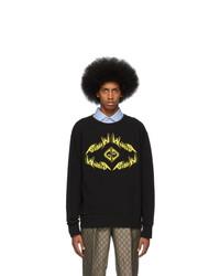 Мужской черный свитшот с принтом от Gucci