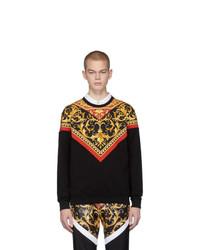 Мужской черный свитшот с принтом от Versace