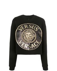 Женский черный свитшот с принтом от Versus