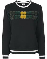 Женский черный свитшот от Fendi