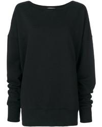 Черный свободный свитер