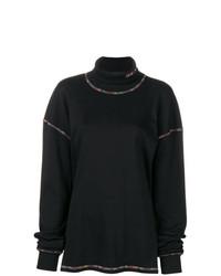 Черный свободный свитер от Aalto