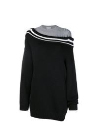 Черный свободный свитер от Act N°1