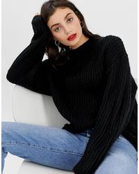 Черный свободный свитер от ASOS DESIGN