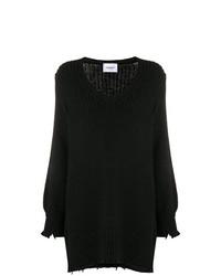 Черный свободный свитер от Dondup