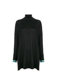 Черный свободный свитер от Emilio Pucci