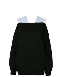 Черный свободный свитер от Ioana Ciolacu