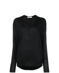 Черный свободный свитер от Jean Paul Knott