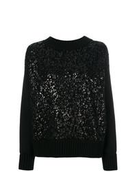 Черный свободный свитер от Moncler