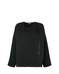 Черный свободный свитер от Nehera