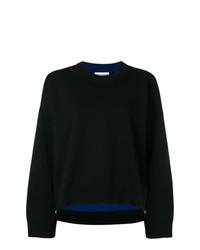 Черный свободный свитер от Paco Rabanne