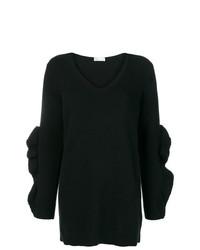 Черный свободный свитер от RED Valentino