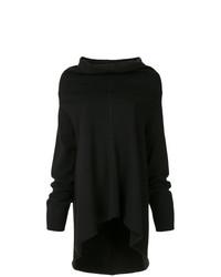 Черный свободный свитер от Zambesi