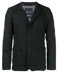 Мужской черный стеганый пиджак от Herno