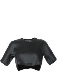 Женский черный укороченный топ от Ellery