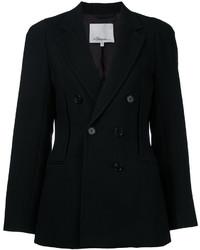 Женский черный хлопковый двубортный пиджак от 3.1 Phillip Lim