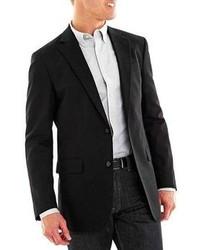 Черный хлопковый пиджак