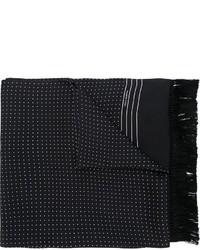 Мужской черный шарф в горошек от Dolce & Gabbana