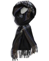 Черный шарф в шотландскую клетку