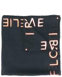 Черный шарф со звездами