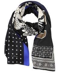 Черный шарф с принтом