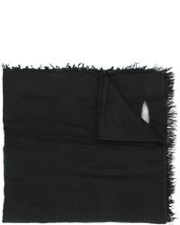 Женский черный шарф с принтом от Faliero Sarti