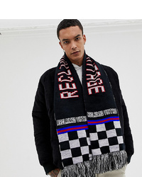 Мужской черный шарф с принтом от Reclaimed Vintage
