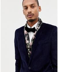 Мужской черный шарф с цветочным принтом от Twisted Tailor