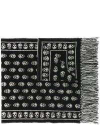 Женский черный шарф от Alexander McQueen