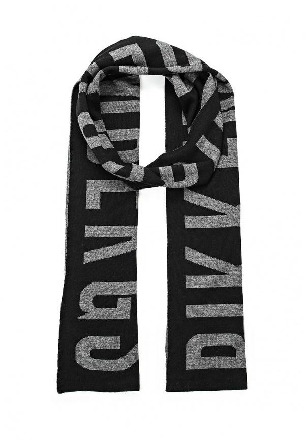 Мужской черный шарф от Bikkembergs