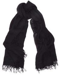 Женский черный шарф от Chan Luu