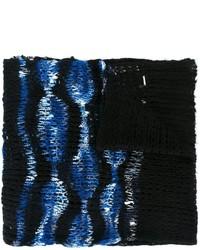 Женский черный шарф от Diesel