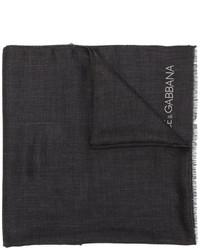 Мужской черный шарф от Dolce & Gabbana