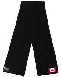 Мужской черный шарф от DSQUARED2