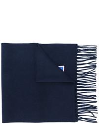 Мужской черный шарф от Fendi