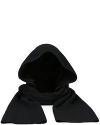 Женский черный шарф от Helmut Lang