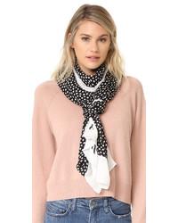 Женский черный шарф от Kate Spade