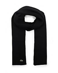 Мужской черный шарф от Lacoste