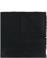 Женский черный шарф от Saint Laurent