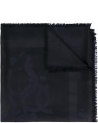 Женский черный шарф от Salvatore Ferragamo